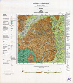 1924 Hennstedt, Geologische Landesaufnahme von Schleswig-Holstein Thematische Karten - Physische Karten