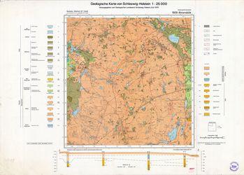 1929 Ahrensboek, Geologische Karte von Schleswig-Holstein 1:25000 Thematische Karten - Physische Karten