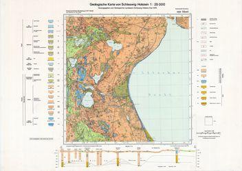 1930 Suesel, Geologische Karte von Schleswig-Holstein 1:25000 Thematische Karten - Physische Karten