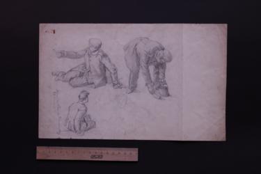 Zeichnung Soldatenstudien (4)
