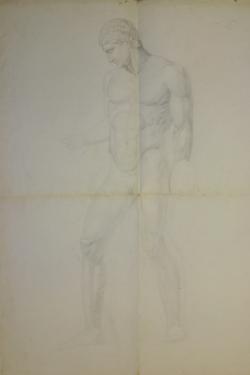 Handzeichnung männliche Antike