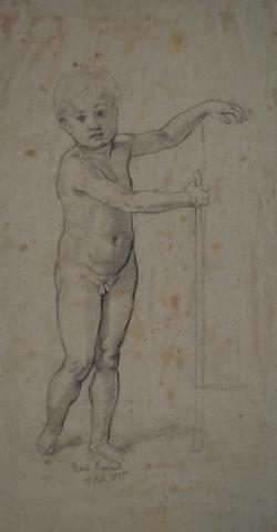 Handzeichnung Figurenstudie nach Raffael