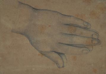 Handzeichnung Studie zweier aneinder liegenden Hände