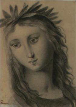 KU000376; Kopfstudie der Corinna; Handzeichnung