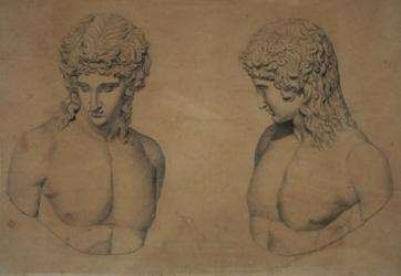 Handzeichnung Zweifache Ansicht des sog. Eros von Centocelle