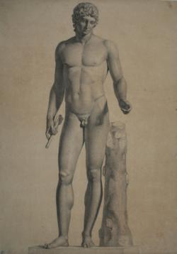 Handzeichnung Statue des Apollon, sog. Adonis von Centocelle
