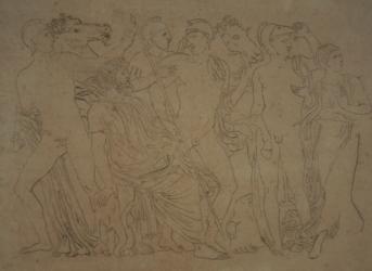 Handzeichnung Entdeckung Achills auf Skyros