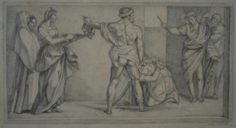 KU000355; Enthauptung Johannes des Täufers; Handzeichnung
