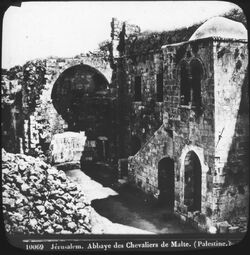 Glasplattendia Jérusalem. S. Mariamajor u. Muristan (Kirche Sancta Maria Maior und Muristan) [Jerusalem]