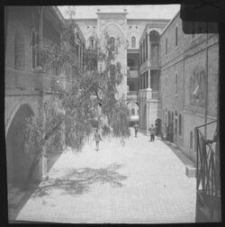 Glasplattendia Hof des syrischen Waisenhauses [Jerusalem]