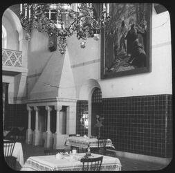 Glasplattendia Speisezimmer der Kaiserin Auguste Victoria-Stiftung, Jerusalem