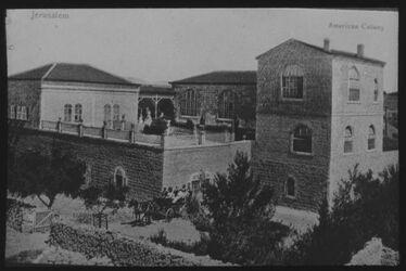 Glasplattendia American Colony, Jerusalem (Hotel American Colony) [Jerusalem, American Colony Hotel]