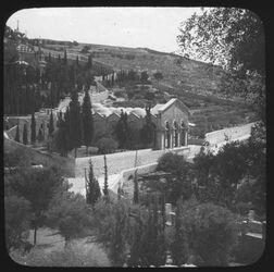 Glasplattendia New Franciscan Church in Gethsemane [Jerusalem]