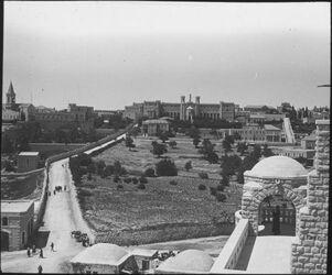 Glasplattendia Notre Dame de France (v. O) [Jerusalem]