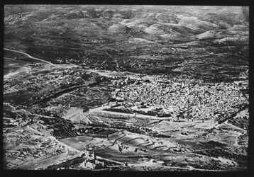 Glasplattendia Jerusalem von NO Fliegerbild