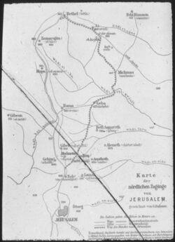 Glasplattendia Die Nördlichen Zugänge von Jerusalem
