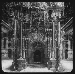 Glasplattendia The Holy Sepulchre [Jerusalem, Grabeskirche]