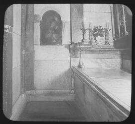 Glasplattendia Inneres des hl. Grabes [Jerusalem, Grabeskirche]