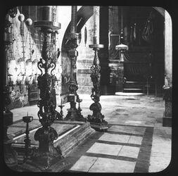 Glasplattendia Standort d. h. 3 Marien bei d. Salbung Grabeskirche Jerusalem