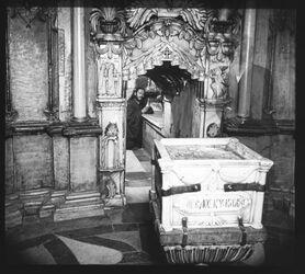 Glasplattendia Engelstein und Grab [Jerusalem, Grabeskirche]