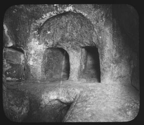Glasplattendia Grab d. Josephs v. Arimathia [Jerusalem]