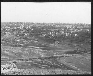 Glasplattendia Panorama v. Jerusalem III