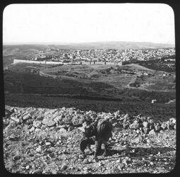 Glasplattendia Jerusalem from Mt. Skopus 2082