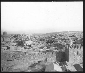 Glasplattendia el-wad vom Paulushospiz [Jerusalem]