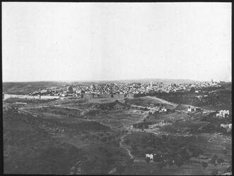 Glasplattendia Jerusalem Ansicht von ferne (NO)