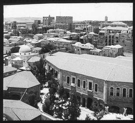 Glasplattendia Panorama v. Erlöserkirche I SW [Jerusalem]