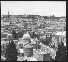 Glasplattendia Blick v. N. D. de Sion n.W. [Jerusalem]