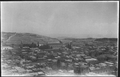 Glasplattendia Jerusalem, Panorama nach Süd-Osten