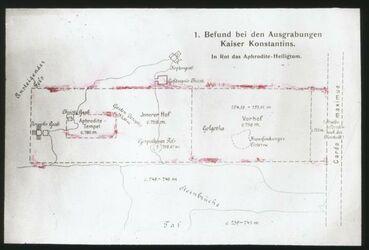 Glasplattendia Befund bei d. Ausgrabungen K. Konstantins n. Dalman [Jerusalem]