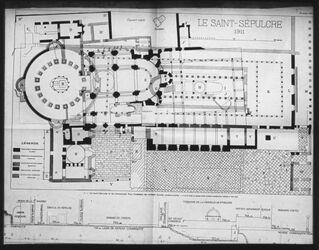 Glasplattendia Hl. Grab jetzt + n. d. Bau Konstantins n. Vincent [Jerusalem]