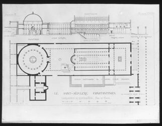 Glasplattendia Plan d. Konstantinbaus n. Vincent [Jerusalem]