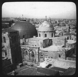 Glasplattendia Grabeskirche von Erlöserturm [Jerusalem]