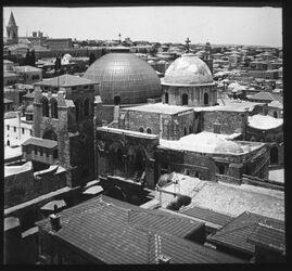 Glasplattendia Panorama v. Erlöserkirche II (Grabesk. N.) [Jerusalem]