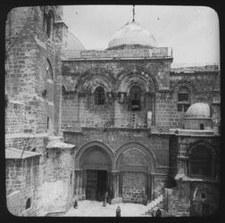Glasplattendia Church of holy Sepulchre