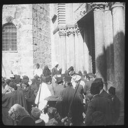 Glasplattendia Eing. z. Grabeskirche [Jerusalem]