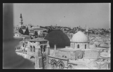 Glasplattendia Grabeskirche vom Erlöserturm [Jerusalem]