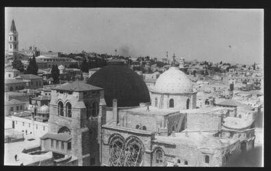 Glasplattendia Grabeskirche v. Erlöserturm [Jerusalem]