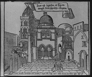 Glasplattendia Grabeskirche nach Breudenbach [Jerusalem]