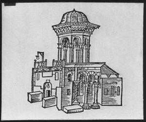 Glasplattendia Hl.Grab von N. nach Braudenbach [Jerusalem]