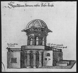 Glasplattendia Hl. Grab nach R. v. Grünemberg, Ansicht von Süden [Jerusalem]