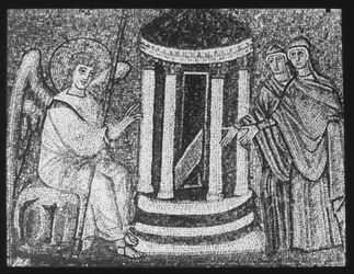 Glasplattendia Ravenna, S. Appolinare nuovo Heiligtum der Frauen