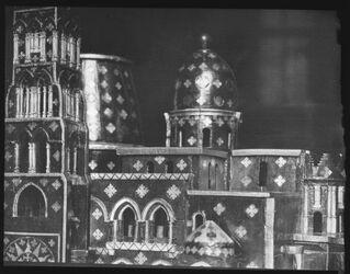 Glasplattendia Grabeskirche n. Modell im Nat. Mus. München D. [Jerusalem]