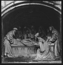 Glasplattendia Xanten, Stiftskirche. Passion. Grablegung