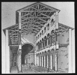 Glasplattendia Rom, S. Agnese fuori le mura, Rom, S. Agnese fuori le mura