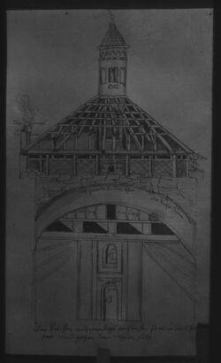 Glasplattendia Heiliges Grab in Augsburg
