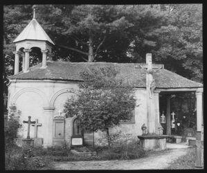 Glasplattendia Heiliggrabkapelle in Steinbach [Schwäbisch Hall]